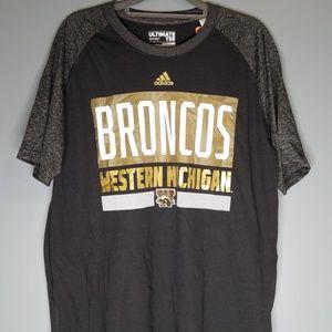 Adidas Ultimate Tee Western Michigan Broncos NWT